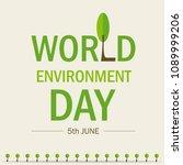 world environment day.... | Shutterstock .eps vector #1089999206