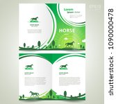 brochure horse grassland theme... | Shutterstock .eps vector #1090000478