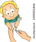 illustration of adult hands... | Shutterstock .eps vector #1090001846