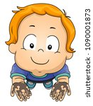 illustration of a kid boy... | Shutterstock .eps vector #1090001873