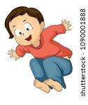 illustration of a kid boy... | Shutterstock .eps vector #1090001888