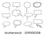comic speech bubbles set. chat... | Shutterstock . vector #109000208