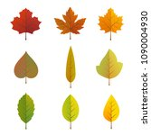 isolated of autumn leaves vector | Shutterstock .eps vector #1090004930