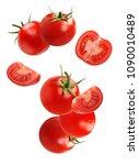 falling  flying  tomato ... | Shutterstock . vector #1090010489