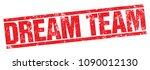 dream team vector stamp | Shutterstock .eps vector #1090012130