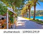 tourist waterfront street in...   Shutterstock . vector #1090012919