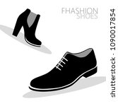 shoes on white background | Shutterstock .eps vector #1090017854