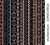 ethnic boho seamless pattern.... | Shutterstock .eps vector #1090019816