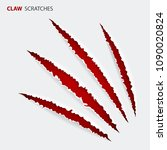 realistic scratch claws of... | Shutterstock .eps vector #1090020824