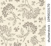 seamless pattern with... | Shutterstock .eps vector #1090023170