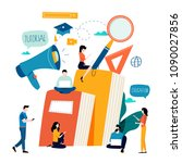 education  online training... | Shutterstock .eps vector #1090027856