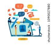 customer service  customer... | Shutterstock .eps vector #1090027880