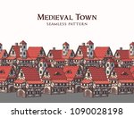 medieval ancient city.... | Shutterstock .eps vector #1090028198