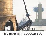 fragment of a wooden ship...   Shutterstock . vector #1090028690