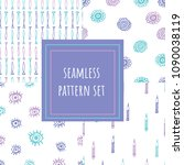 hand drawn seamless pattern... | Shutterstock .eps vector #1090038119