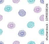 doodle flowery seamless pattern.... | Shutterstock .eps vector #1090038146