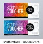 gift voucher template design... | Shutterstock .eps vector #1090039976