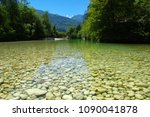 river with clear water and... | Shutterstock . vector #1090041878