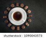 beautiful creative chocolate...   Shutterstock . vector #1090043573