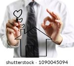 hand drawing a house | Shutterstock . vector #1090045094