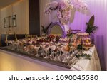 table with sweets  ice cream... | Shutterstock . vector #1090045580