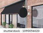 close up of a brick restaurant... | Shutterstock . vector #1090056020