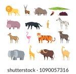 cartoon african savannah... | Shutterstock .eps vector #1090057316