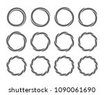 spiral rings twisting circles... | Shutterstock .eps vector #1090061690