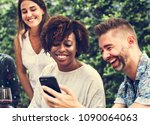 group of diverse friends... | Shutterstock . vector #1090064063