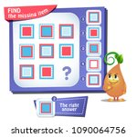 educational game for kids and... | Shutterstock .eps vector #1090064756