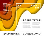 modern vector art poster flyer... | Shutterstock .eps vector #1090066940