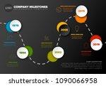 vector infographic timeline... | Shutterstock .eps vector #1090066958