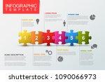 vector puzzle infographic... | Shutterstock .eps vector #1090066973