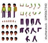 schoolboy creation set   little ... | Shutterstock .eps vector #1090067540