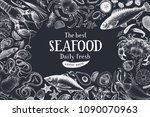 seafood vector illustration.... | Shutterstock .eps vector #1090070963
