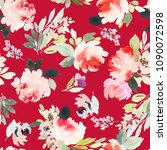 seamless watercolor pattern... | Shutterstock . vector #1090072598