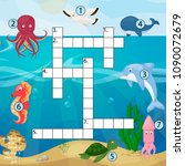 crossword kids magazine book... | Shutterstock .eps vector #1090072679