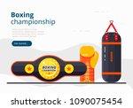 boxing championship landing... | Shutterstock .eps vector #1090075454