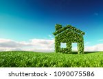 eco friendly living concept. 3d ... | Shutterstock . vector #1090075586