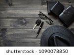 gentlemen's accessories top... | Shutterstock . vector #1090078850