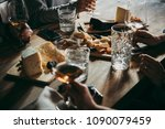 wine and cheese served for a... | Shutterstock . vector #1090079459