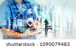 health protection. medical and...   Shutterstock . vector #1090079483