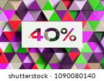 40  symbol on the colorful... | Shutterstock . vector #1090080140