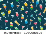 Seamless Pattern With Cocktails....