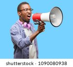 african black man student with...   Shutterstock . vector #1090080938