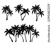 set of hand drawn palm trees... | Shutterstock .eps vector #1090082339
