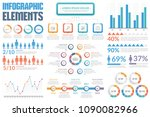 infographic elements   bar and... | Shutterstock .eps vector #1090082966