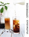homemade cold brew iced coffee... | Shutterstock . vector #1090083206