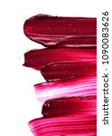 dark red smear of matte lip... | Shutterstock . vector #1090083626