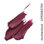 dark red smear of matte lip...   Shutterstock . vector #1090083704